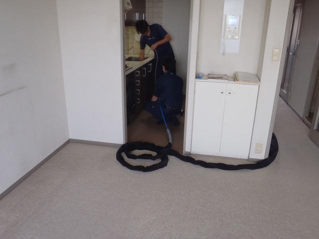 恒例 排水管高圧洗浄