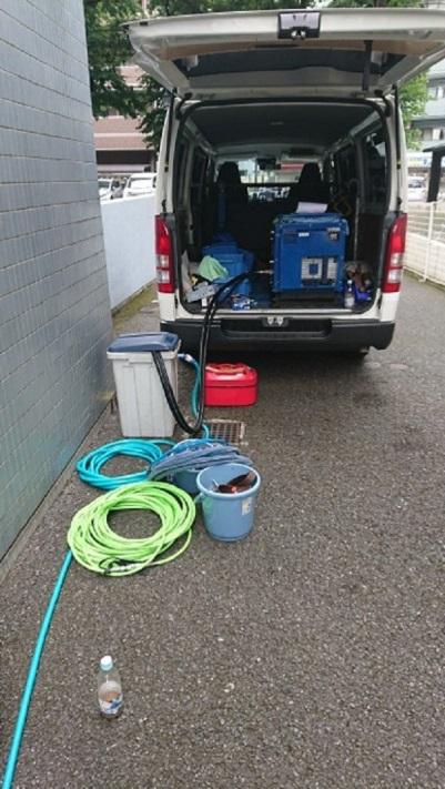 排水管高圧洗浄 マンション全所帯